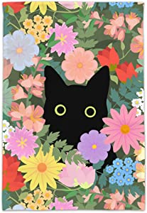 GRAPHICS & MORE Black Cat Hiding in Spring Flowers Garden Yard Flag