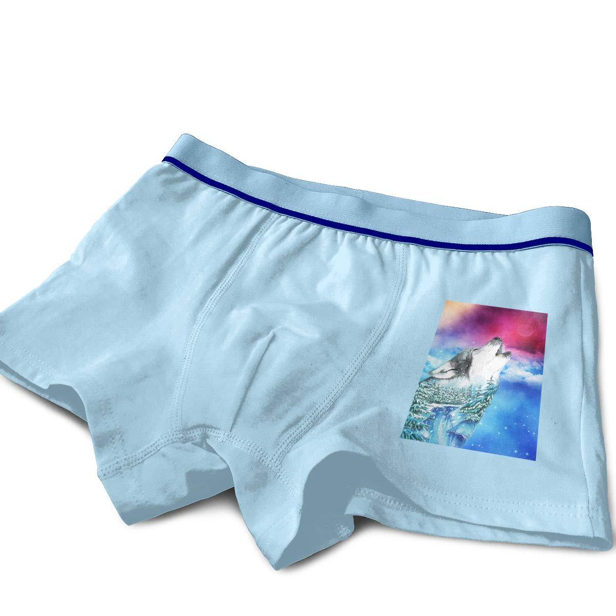 Moon Wolf Kids Cotton Boxer Briefs Underwear