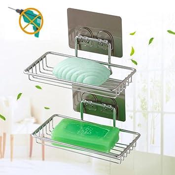 Amazon.com: Platos de jabón jabonera soporte para ducha de ...