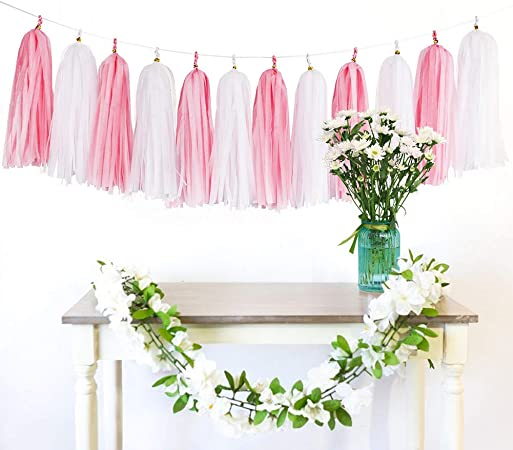 wedding decoration bride shower 37 tassels PRE-MADE bridal table bride party 11ft Rose gold tassels garland perfect for wedding