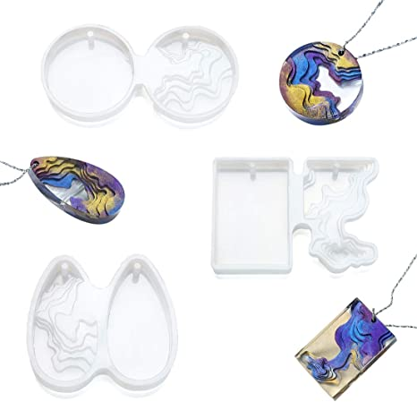 3 Molds iSuperb 3 Pcs Island Resin Molds Epoxy Silicone Molds Jewelry Casting Molds for DIY Ocean Style Crafts Decoration