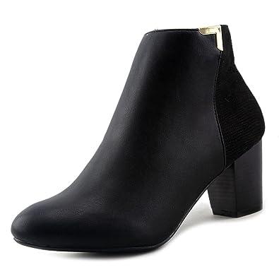 Women Gahriet Leather Almond Toe Ankle Fashion Boots US 7.5