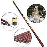 2.7m-7.2m Portable Spinning Canne à Pêche Fishing Rod Télescopique en Fibre de Carbone