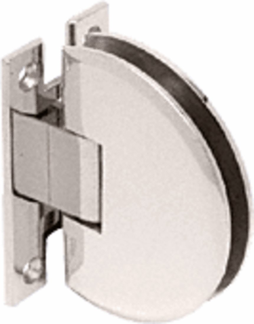CRL Polished Nickel Classique 037 Series Wall Mount Standard Back Plate Hinge - CLA037PN