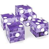 Set of 5 Grade AAA 19mm Casino Dice with Razor Edges and Matching Serial Numbers by Brybelly