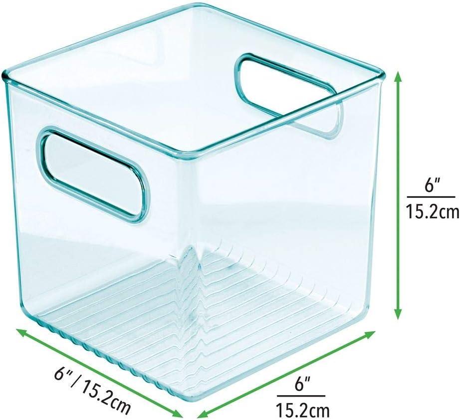 Stofftiere /& Co Windeln mDesign 2er-Set Kinderzimmer Organizer hellblau BPA-freier Kunststoffbeh/älter f/ür Spielzeug quadratische Sortierbox mit praktischen Griffen
