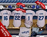 Los Angeles Dodgers Team Locker Room Clubhouse Personlized Officially Licensed MLB Photo Print