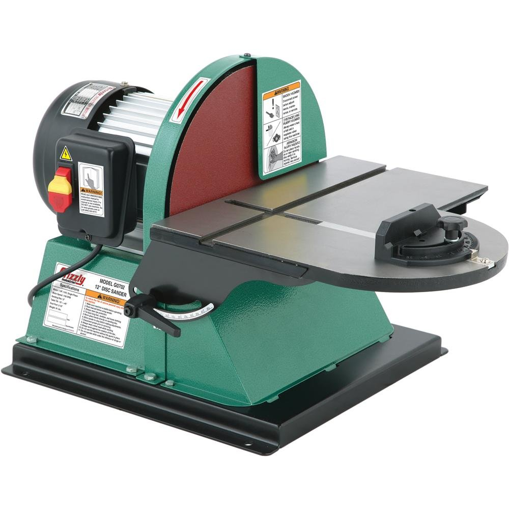 Grizzly G0702 Disc Sander with Brake, 12-Inch by Grizzly