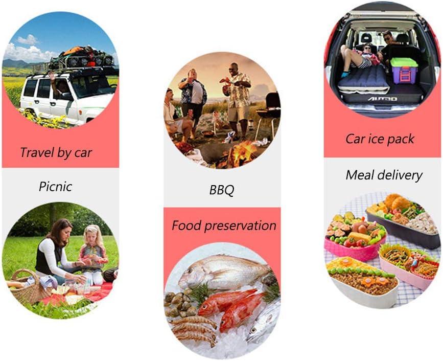 IUANUG Borsa Termica 25L di Grande capacità Borsa da Picnic Adatto per Viaggi Senza Guida Incontri All'aperto Barbecue Conservazione degli Alimenti Borsa da Campeggio Brown