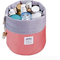SHOPPOSTREET Bucket Barrel Shaped Cosmetic Makeup Bag Travel Case Pouch(Multi Color)