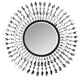 LuLu Decor, Pearl Drop Wall Mirror, Metal Wall Mirror, Frame Size 25'', Perfect for Housewarming Gift.