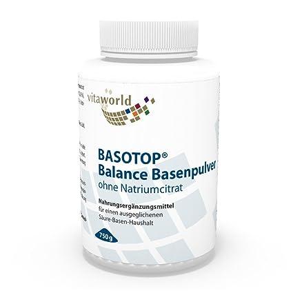 Basotop Polvo Alcalinizante Mineral 750g, Sin Citrato de Sodio Vita World Farmacia Alemania - Multimineral