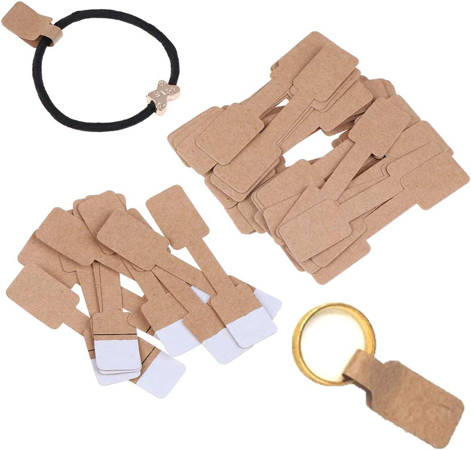 100pcs Blank Price Tags Necklace Ring Bracelet Jewelry Labels Paper Sticker SS6