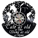 """Cheap Beauty and the Best Creative Vinyl Wall Clock """"Tale as Old as Time"""""""
