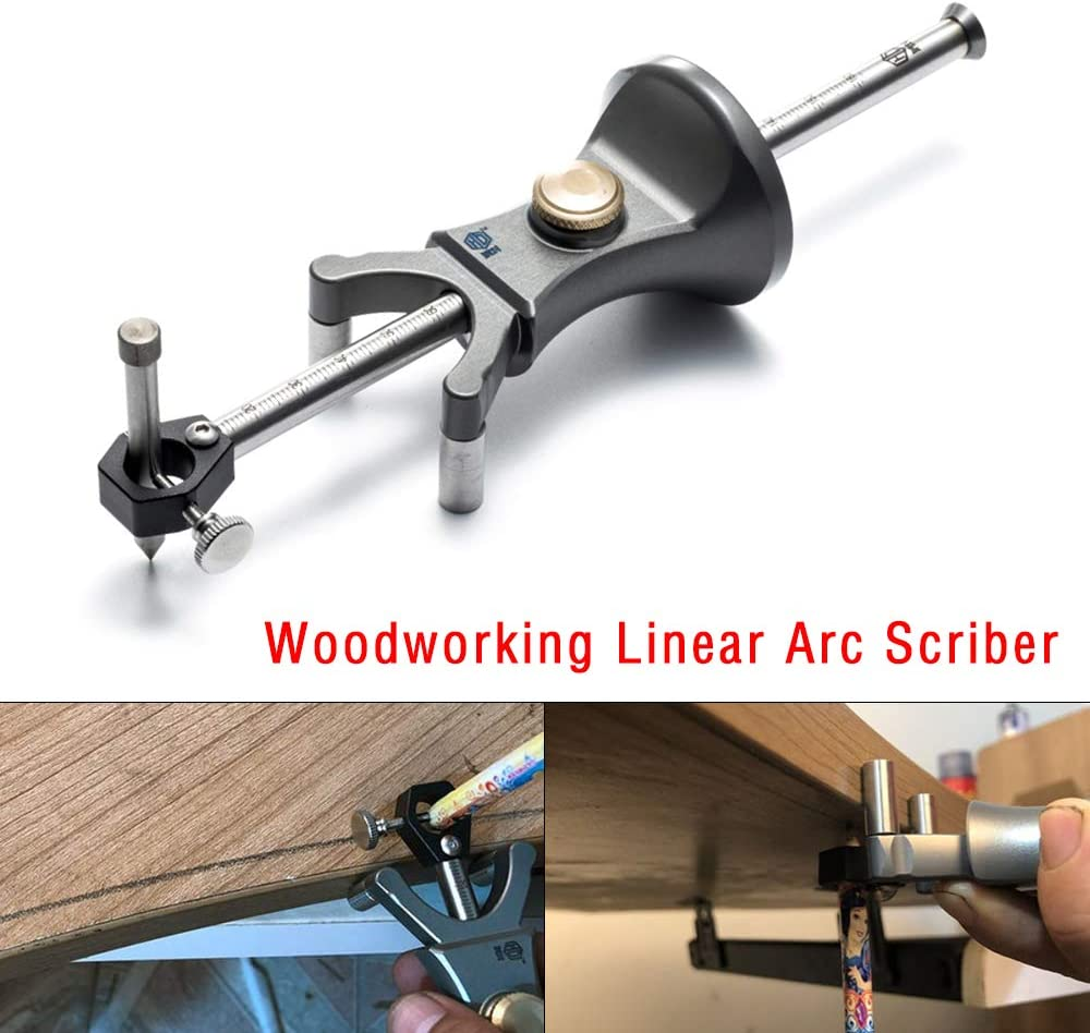 Streichmaß Holzbearbeitung Linear Arc Dual-Zweck Scriber Parallel Line Tool BD#