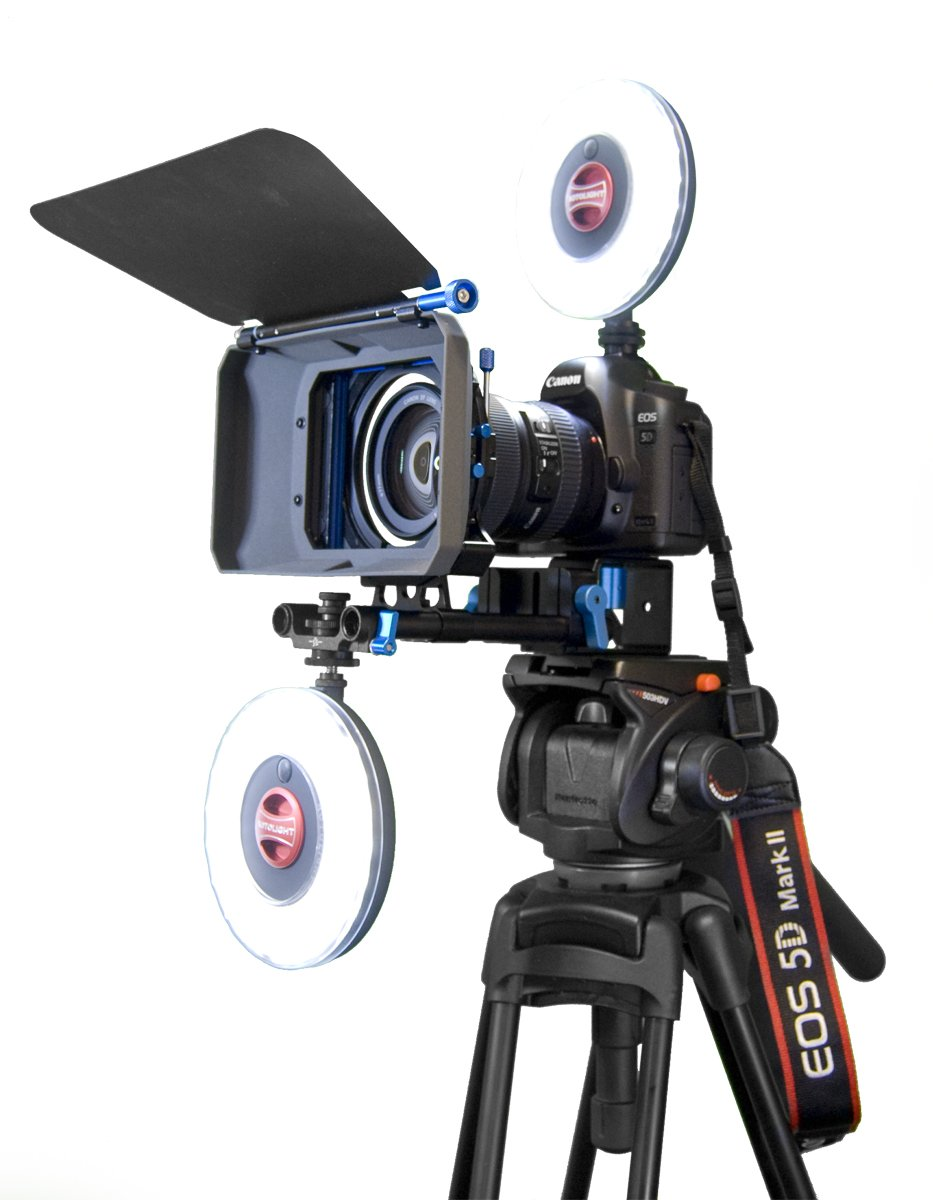 Rotolight Interview Lighting Kit with 2 HD LED Stealth Ringlights, 2 Stands Color Filters Also Includes Belt Pouch by ROTOLIGHT (Image #4)