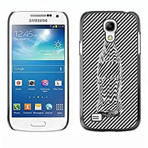 GIFT CHOICE / Teléfono Estuche protector Duro Cáscara Funda Cubierta Caso / Hard Case for Samsung Galaxy S4 Mini i9190 // Black an White Stripes Glass Coke Bottle //
