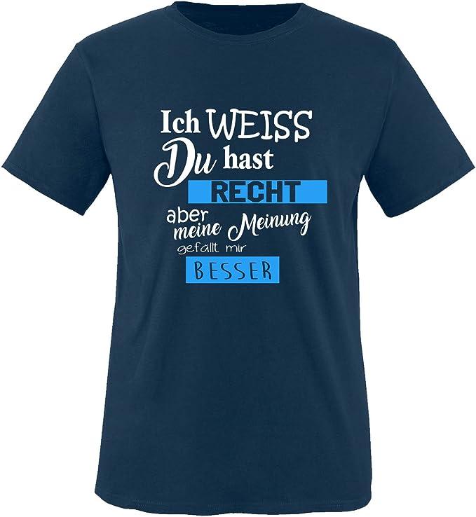 100/% Baumwolle Rundhals Top Basic Print-Shirt M/ädchen T-Shirt Comedy Shirts Ich Weiss du hast Recht Aber Meine Meinung gef/ällt Mir Besser