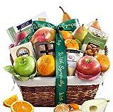 Golden State Fruit Deluxe Gift Basket, Sympathy