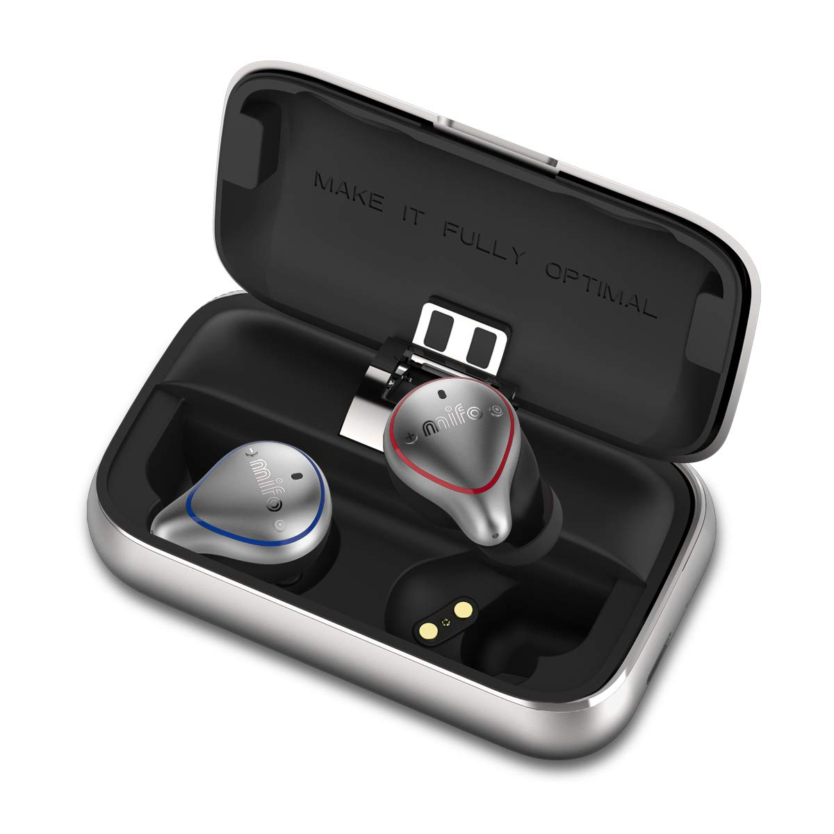 MIFO O5PLUS TWS Wireless Earbuds True Wireless APTX Stereo Earbuds Bluetooth 5.0 100h Playtime Waterproof Built in Mic Wireless Sports Earphones for Running with 2600mAH Portable Charging Case