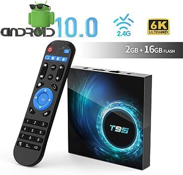 Sidiwen Android 8.1 TV Box F1 2GB RAM 16GB ROM Amlogic S905W Quad-Core Cortex-A53 CPU 2.4G WiFi Ethernet Soporte 3D 4K H.265 Smart Media Player: Amazon.es: Electrónica