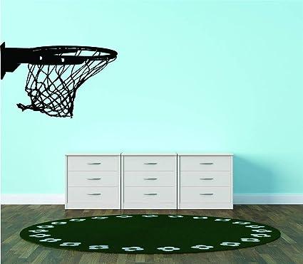 Amazon.com: Canasta de baloncesto Net Anillo vinilo mural ...