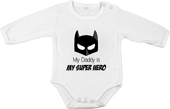 Super h/éroes Body beb/é divertido Body beb/é unisex Batman Regalo original Manga larga