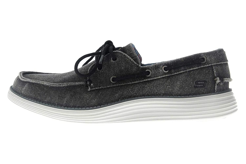 Noir (noir toile Blk) 41 EU Skechers Status 2.0 Lorano, Chaussures Bateau Homme