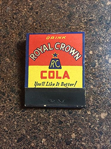 1940's ROYAL CROWN COLA SODA MATCH BOOK Matches