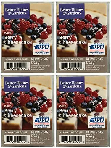 Better Homes and Gardens Wild Berry Cheesecake Wax Cubes - 4-Pack (Wild Wax)
