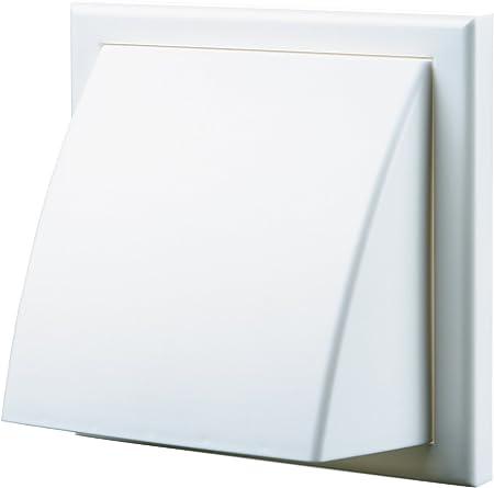 """Plastique blanc mur grille avec volets mobiles pour 6/""""//150mm Extracteur Ventilateur aspirant"""