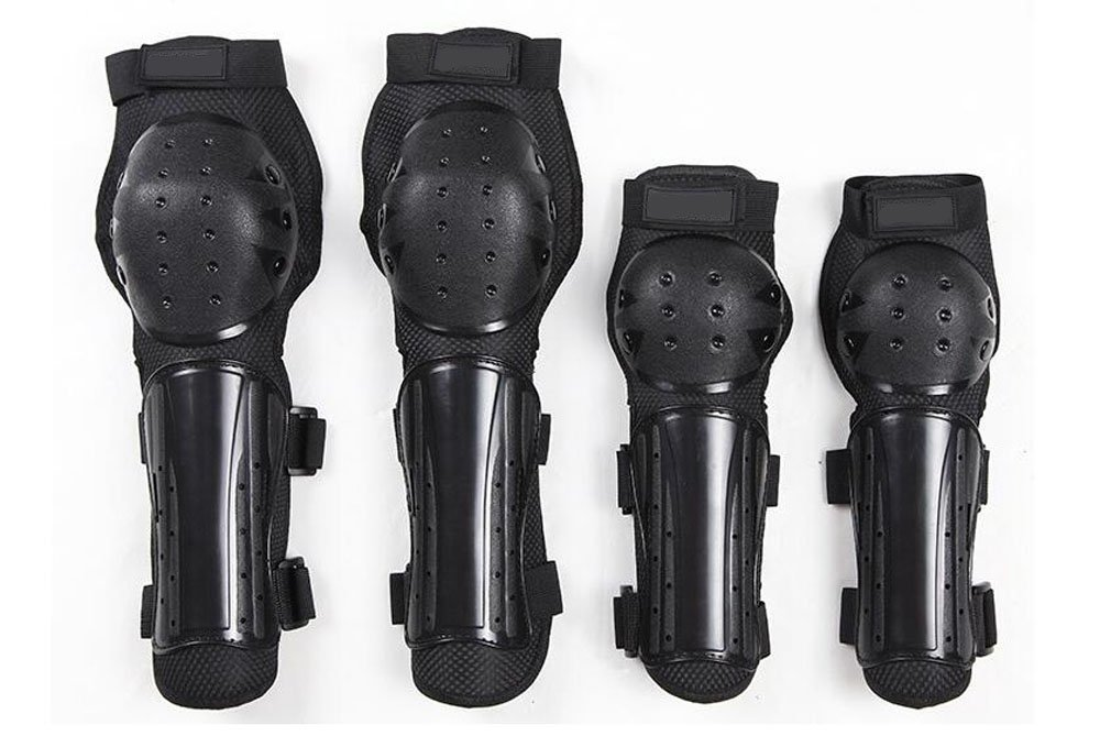CTHOPE Knee, Shin Elbow Pad Guards 4Pcs Protective Gear Skating Skateboards Scooters BMX Mountain Bike Motorcycle