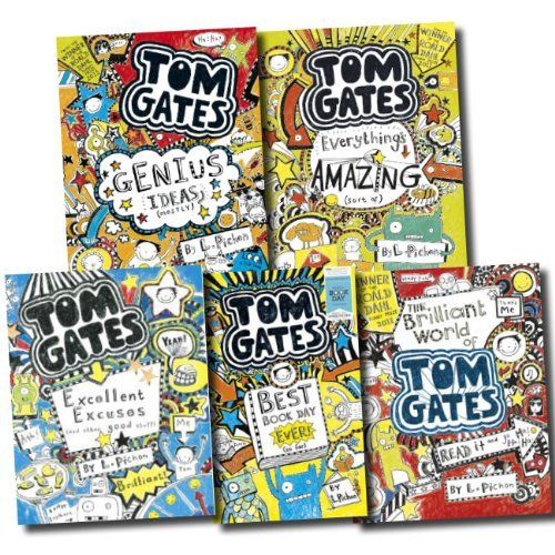 Tom Gates Collection Liz Pichon 5 Books Set Pack (The Brilliant World of Tom Gates, Excellent Excuses (And Other Good Stuff), Everything's Amazing (sort of), Genius Ideas (Mostly)