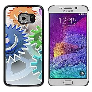 TopCaseStore / la caja del caucho duro de la cubierta de protección de la piel - Abstract Smiley - Samsung Galaxy S6 EDGE SM-G925