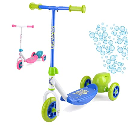 Xootz Kids Bubble Scooter, Patinete de 3 Ruedas con soplador ...