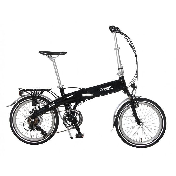 Bicicleta Eléctrica Plegable E-Bike Zonix Smart Marco de Aluminio Shimano Nexus 7 Velocidades Negro: Amazon.es: Deportes y aire libre