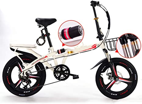 Grimk Bicicleta Plegable para Adultos Rueda De 19 Pulgadas Bici ...