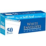 BAZIC #10 Self-Seal White Envelope (50/Pack)