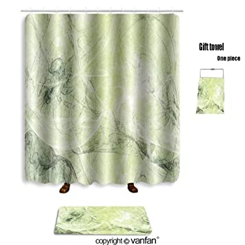 Amazon.com: vanfan bath sets with Polyester rugs and shower curtain ...