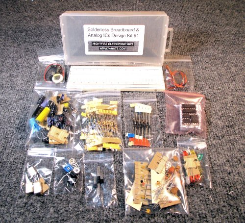 NightFire Electronics Solderless Breadboard & Analog ICs Design Kit #1
