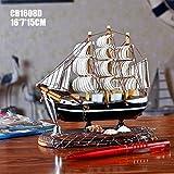 QQA Mediterranean style creative home sailing pen holder birthday gift office decoration, cb1608d
