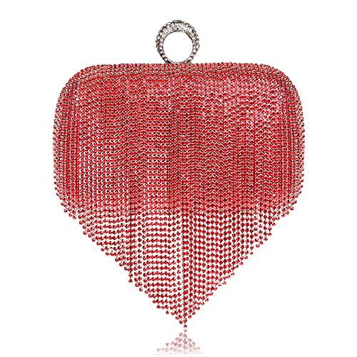 Dames Sac Sac Pochette Pour Soirée Cadeau Clubs Main À Sac D À Prom Nuptiale Glitter Main LOUHH Diamante Tassel Party À Bandoulière De Femmes Mariage EAwqx5B