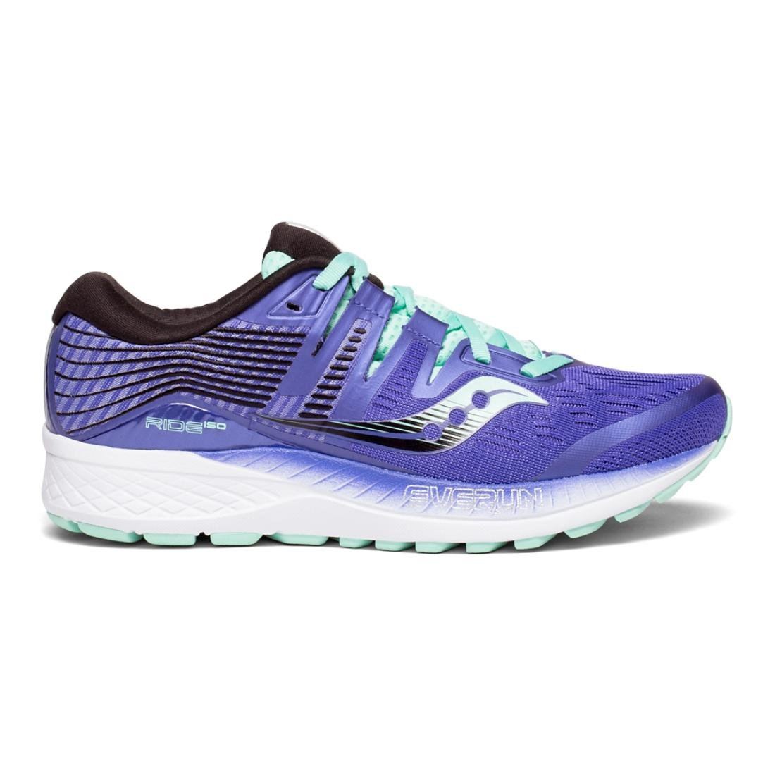 Saucony Women's Ride ISO Running Shoe B078PHGDDP 11 B(M) US|Violet/Black/Aqua