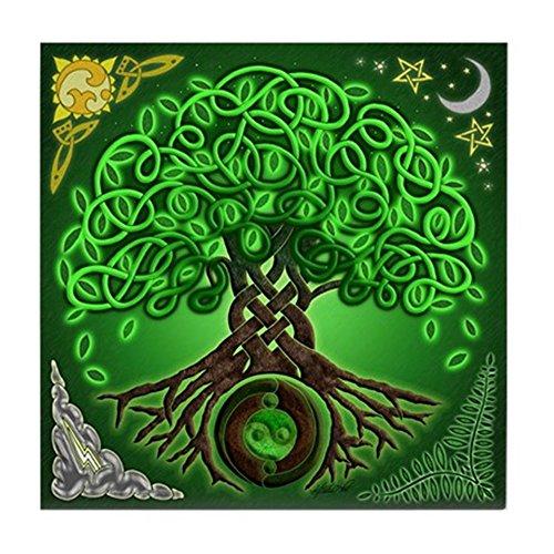 (CafePress - Circle Celtic Tree of Life - Tile Coaster, Drink Coaster, Small Trivet)