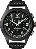 Timex Classic Men's Quartz Watch with Black Dial Analogue Display and Black Leather Strap - T2N389AU