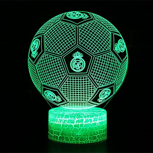 3D Lámpara de Escritorio NHSUNRAY 7 colores LED Touch lámpara de ...