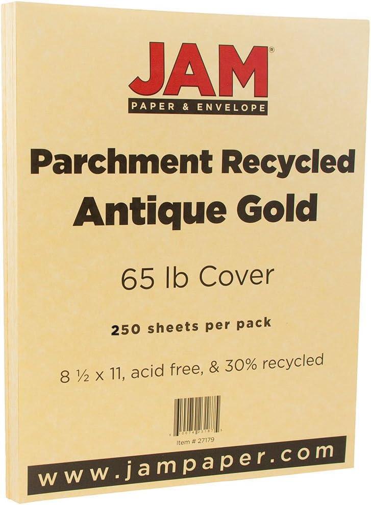 "65lb Cover 100 Sheets Vellum 8.5 x 11/"" Natural Parchment Card Stock Paper"