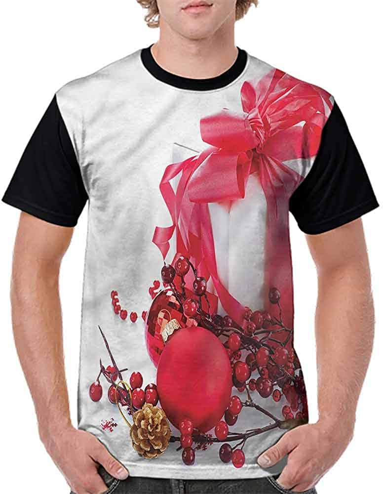 BlountDecor Casual Short Sleeve Graphic Tee Shirts,New Year Berries Fashion Personality Customization