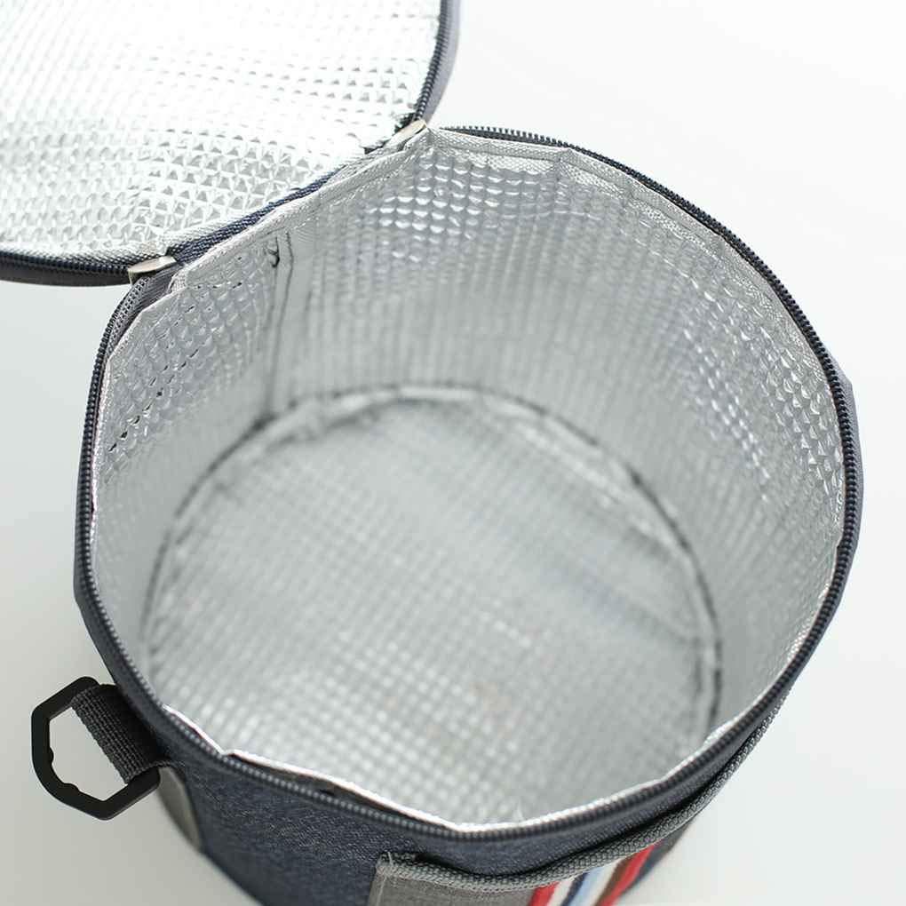 HotaluytStripe Rotonde Sacchetti Pranzo Tote Tasca in Tessuto Oxford Dispositivo di Raffreddamento Isolato della Borsa della Spalla isolata Pranzo Pouch
