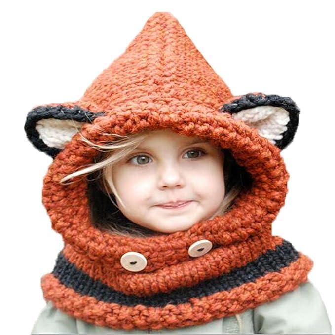 cnWay Crochet de punto de invierno sombreros Kamikaze sombrero de la ...
